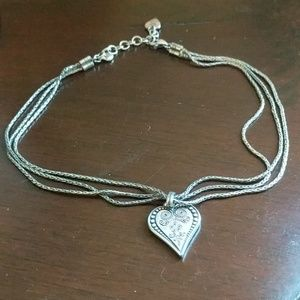 Brighton silver plated heart pendant necklace